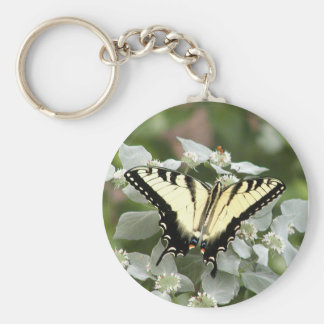 Yellow swallowtail butterfly keychain