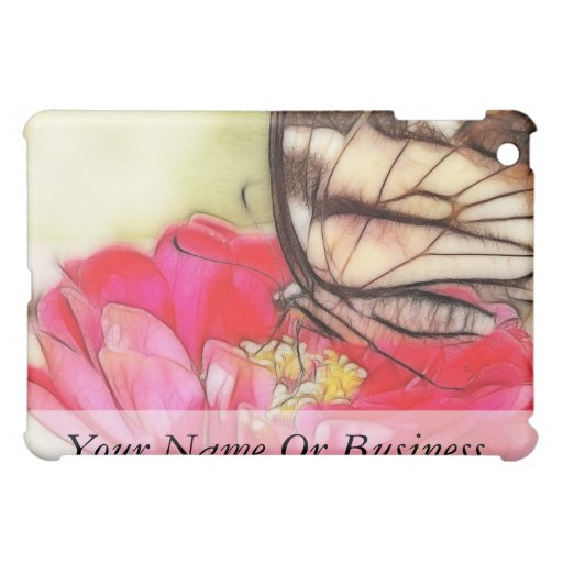 Yellow Swallowtail butterfly on a Zinnia Cover For The iPad Mini