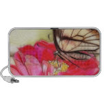 Yellow Swallowtail butterfly on a Zinnia Notebook Speakers