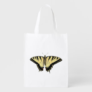 Yellow Swallowtail butterfly ~ Poly bag Reusable Grocery Bag