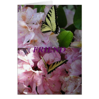 Yellow Swallowtail Butterfly & Rhododendron Card