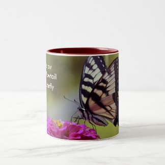 Yellow Swallowtail, Butterfly Two-Tone Coffee Mug