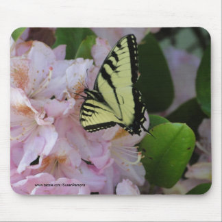 Yellow Swallowtail & Rhododendron Mouse Pad