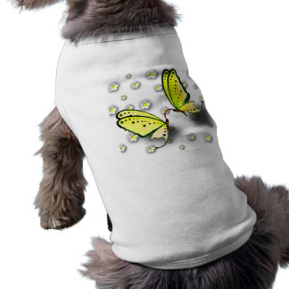 Yellow Swallowtails And Daisies in 3D Pet Tee