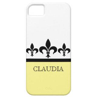 Yellow Swanky Fleur De Lis BT iPhone 5 Case