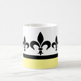 Yellow Swanky Fleur De Lis Mug
