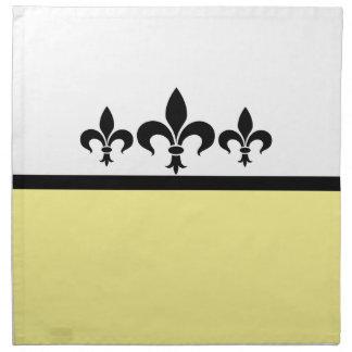 Yellow Swanky Fleur De Lis Napkins