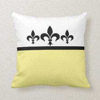 Yellow Swanky Fleur De Lis Pillow