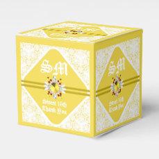 Yellow Sweet 16th SQ Favor Box W/ WF
