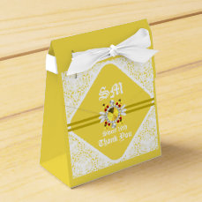 Yellow Sweet 16th Tent Favor Box w/WF