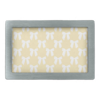 Yellow Sweet Butter With White Bow Belt Buckles
