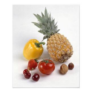 Yellow sweet pepper tomato pineapple photographic print