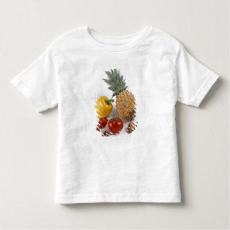 Yellow sweet pepper, tomato, pineapple, tee shirt