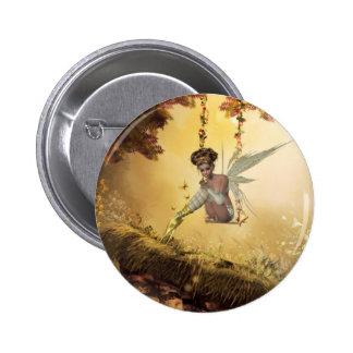 Yellow Swinging Fairy Button