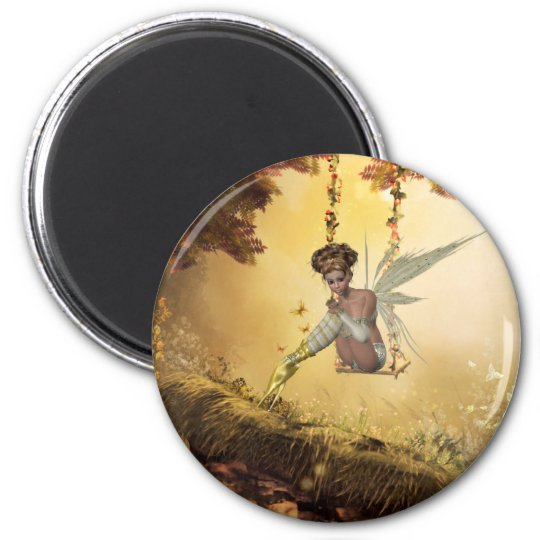 Yellow Swinging Fairy Magnet
