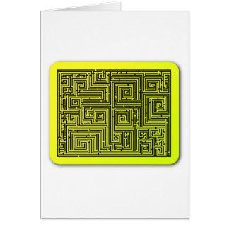 Yellow Swirl Maze Card