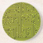 Yellow Swirl Maze coaster