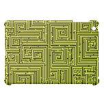 Yellow Swirl Maze Ipad case