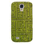 Yellow Swirl Maze iphone case Samsung Galaxy S4 Cases