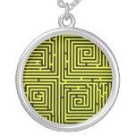 Yellow Swirl Maze Necklace