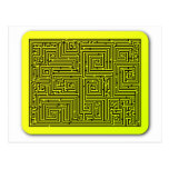 Yellow Swirl Maze Postcard