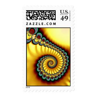 Yellow Swirl Postage