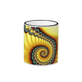 Yellow Swirl Rim Cup Mugs