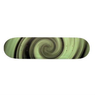 Yellow Swirl Skateboard Deck
