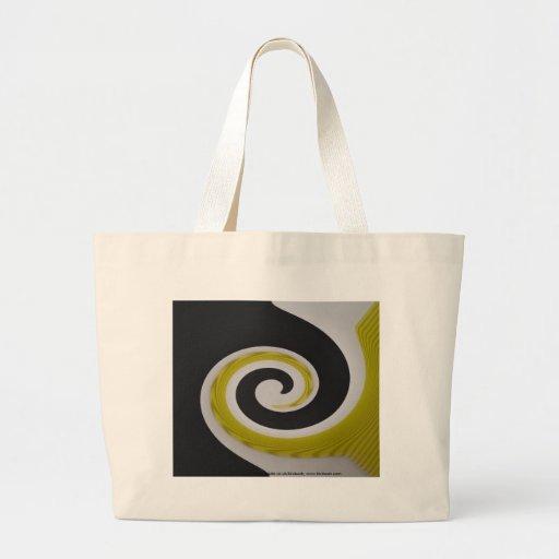 Yellow Swirl tote Tote Bag