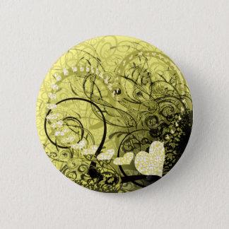 Yellow Swirls Button