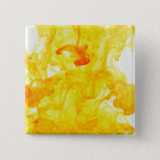 Yellow Swirls Liquidity Pinback Button