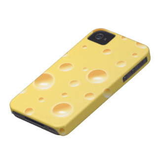 Yellow Swiss Cheese Slice Texture iphone 4 case