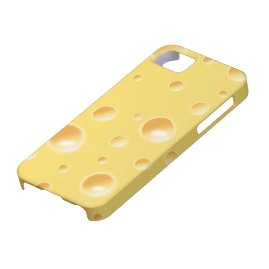 Yellow Swiss Cheese Slice Texture iphone 5 case