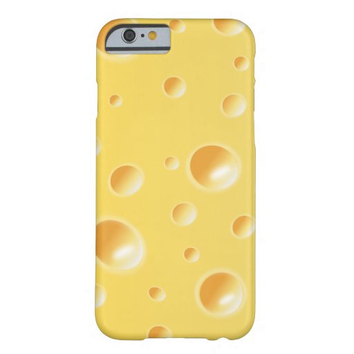 Yellow Swiss Cheese Slice Texture iPhone 6 case