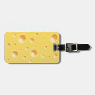 Yellow Swiss Cheese Texture Bag Tag