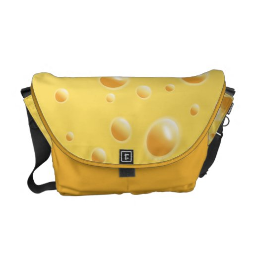 Yellow Swiss Cheese Texture Courier Bag