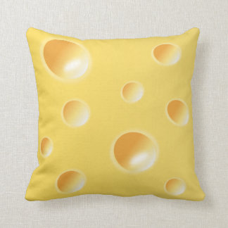 Yellow Swiss Cheese Texture Cushion / Pillow