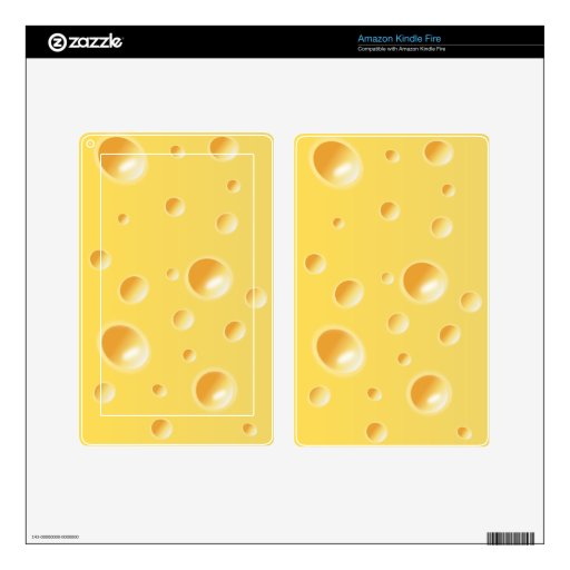 Yellow Swiss Cheese Texture Decal For Kindle Fire
