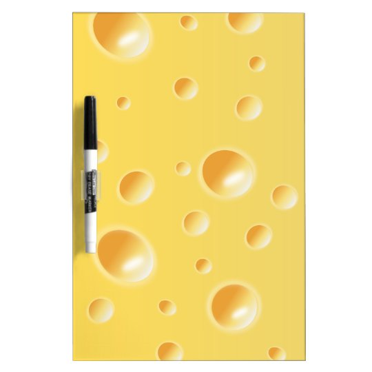 Yellow Swiss Cheese Texture Dry-Erase Board