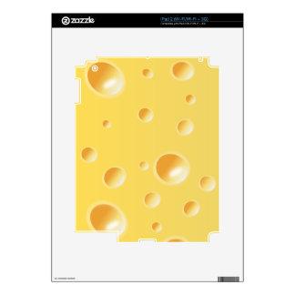 Yellow Swiss Cheese Texture iPad 2 Skins