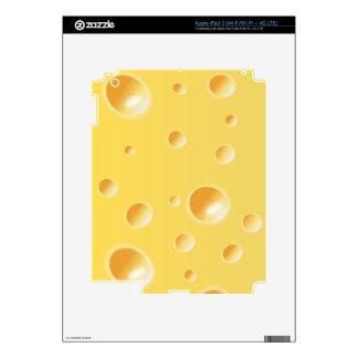 Yellow Swiss Cheese Texture iPad 3 Skins