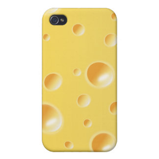Yellow Swiss Cheese Texture iPhone 4 Covers
