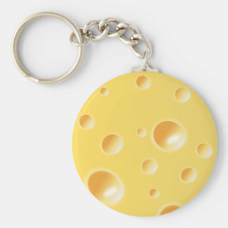Yellow Swiss Cheese Texture Keychain