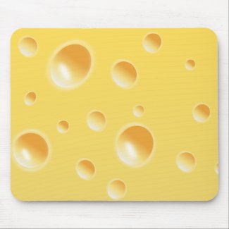 Yellow Swiss Cheese Texture Mouse Pad