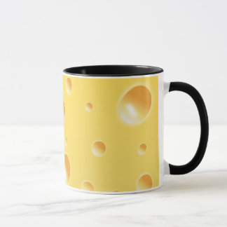 Yellow Swiss Cheese Texture Mug