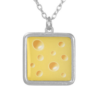Yellow Swiss Cheese Texture necklace