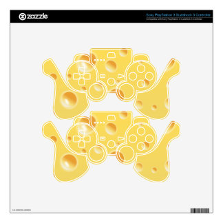 Yellow Swiss Cheese Texture PS3 Controller Skin