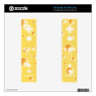 Yellow Swiss Cheese Texture Wii Remote Skins