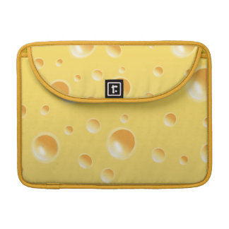 Yellow Swiss Cheese Texture Sleeve For MacBook Pro