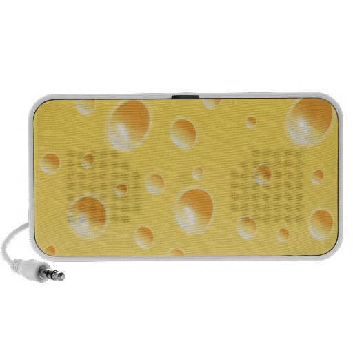 Yellow Swiss Cheese Texture Speaker